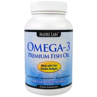 Madre Labs, Omega-3 Premium Fish Oil, 100 Fish Gelatin Softgels