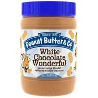 Peanut Butter & Co., White Chocolate Wonderful, peanut butter blended with sweet white chocolate, 454 g